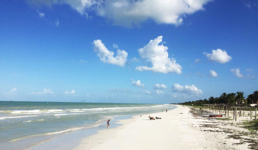 El Cuyo Yucatan deserted  beach