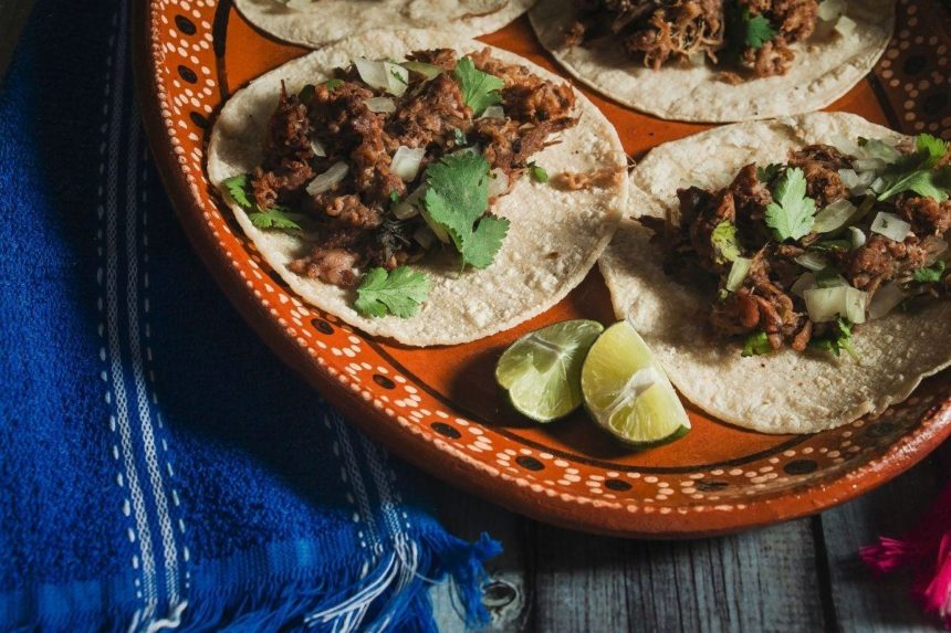 plate of mexican tacos