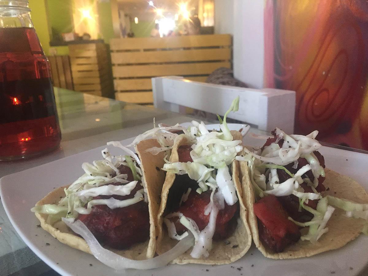 Vegan restaurant in Queretaro - Save money while traveling around Mexico - Boundless Roads