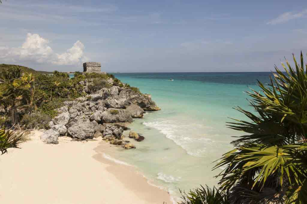 Tulum archeological site and a beach