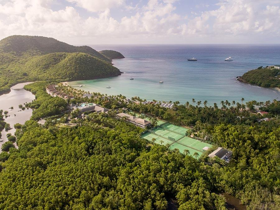 Carlisle bay overview aerial