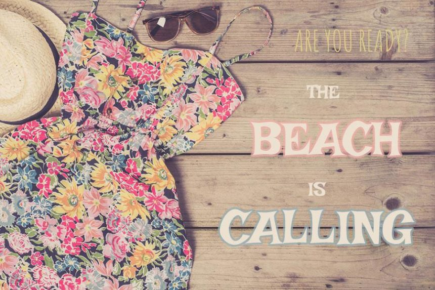beach dress with glasses on a wooden panel - PACKING LIST FOR MEXICO