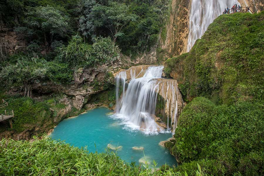 El Chiflon Waterfall - Chiapas