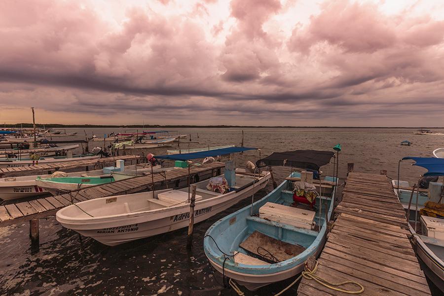 Cloudy evening in RIo Lagartos