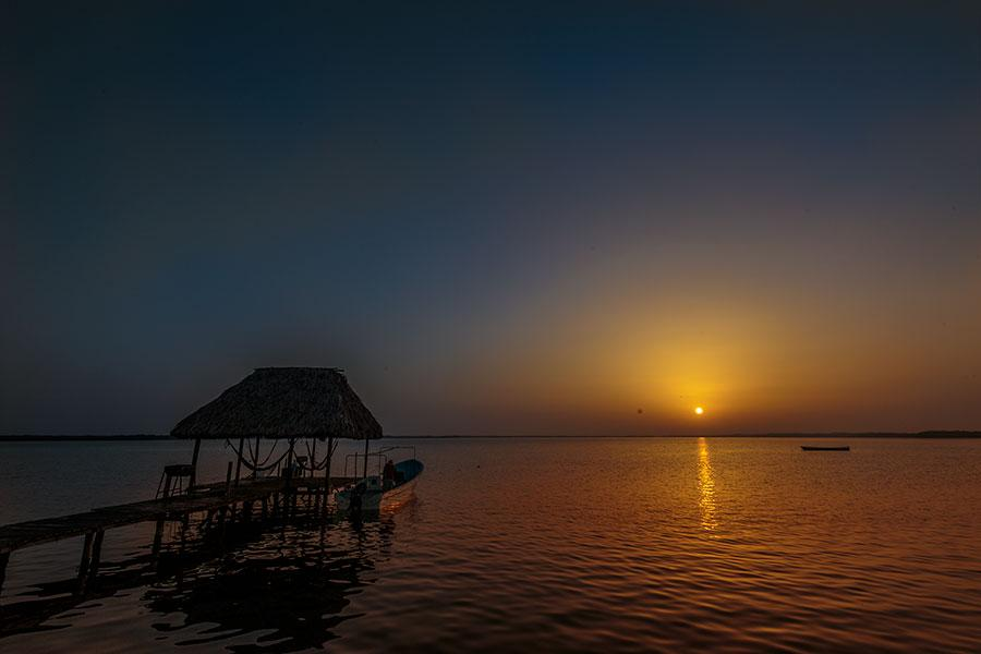 Sunrise in Rio Lagartos on the river