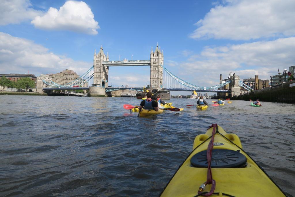 london bridge and kayaking