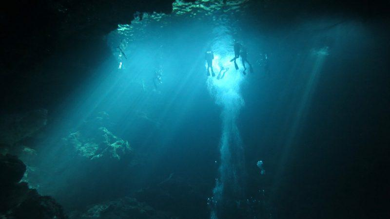 diving in a cenote