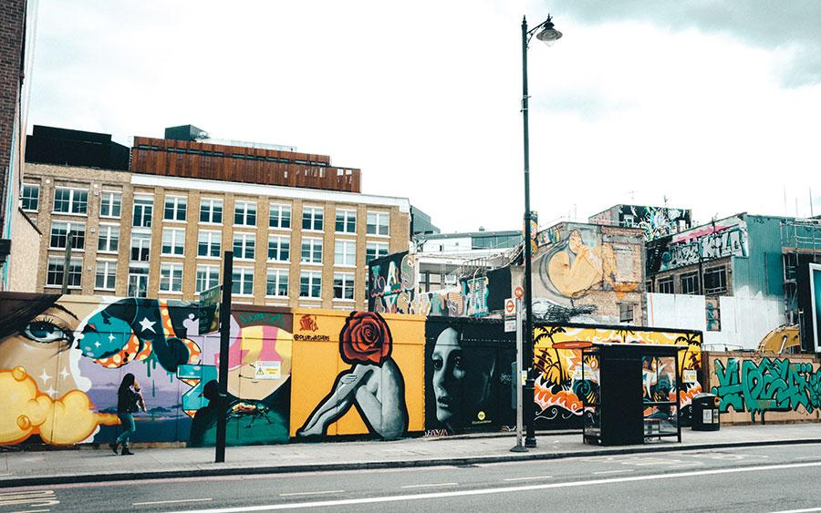 grafiti on city walls