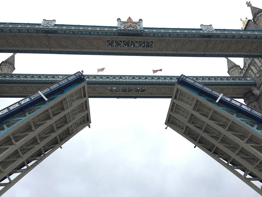Tower bridge from below