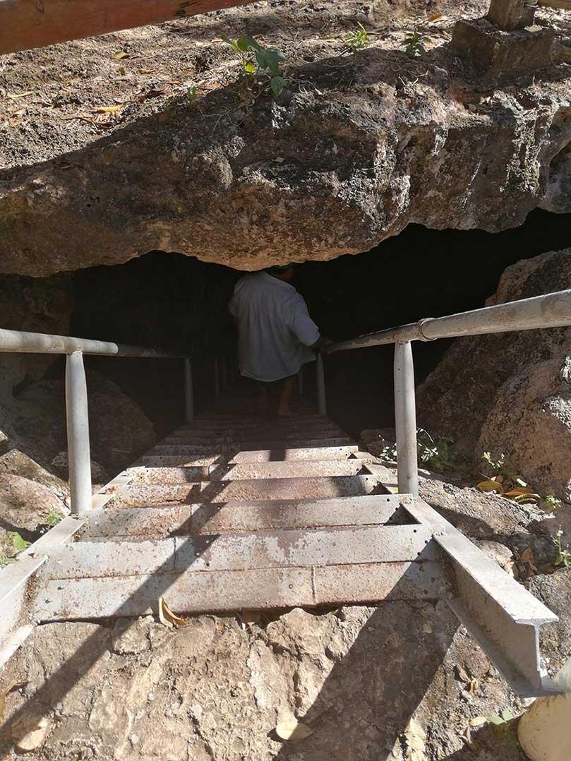 cave cenote cuzama entrance