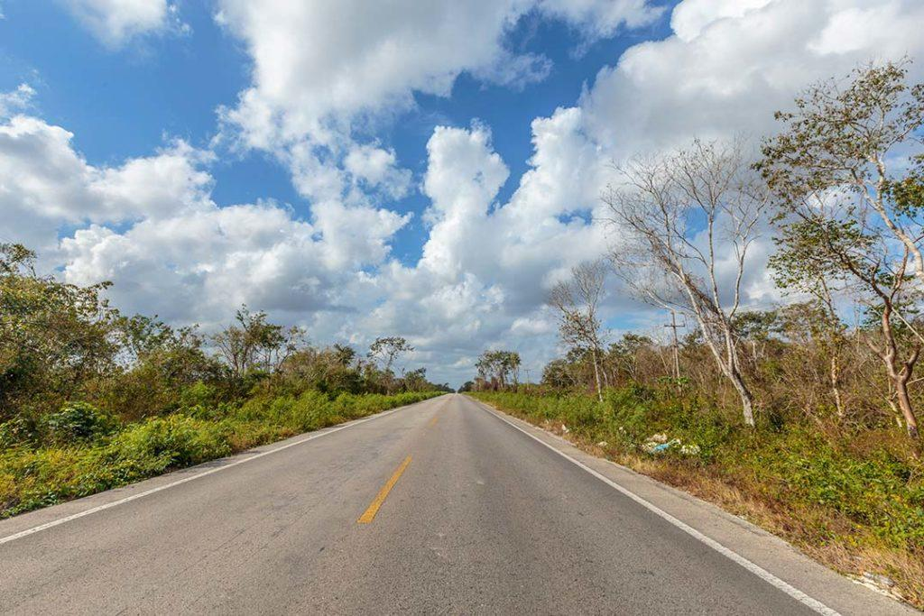 on the road in yucatan