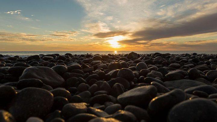 pebbles and sunrise