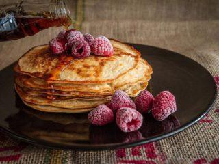 pancakes and raspberry