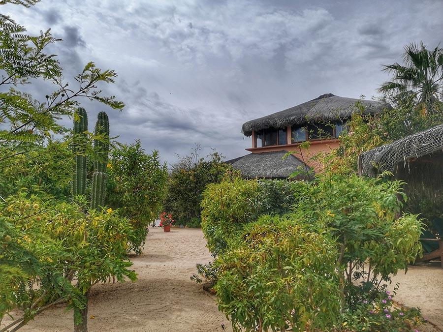 baja bungalow courtyard