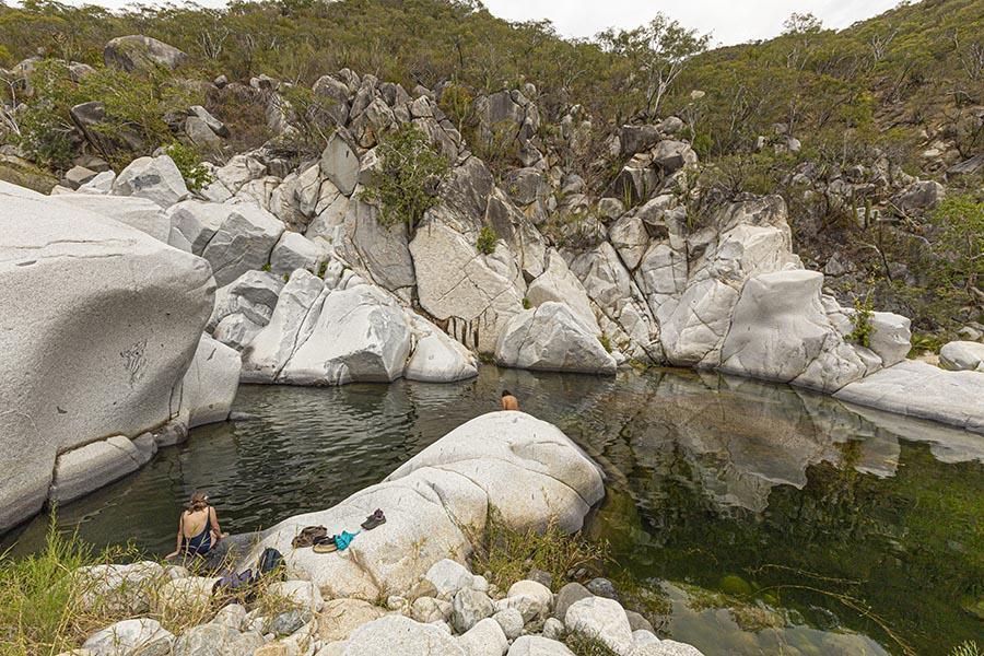 lake in the sierra de la laguna