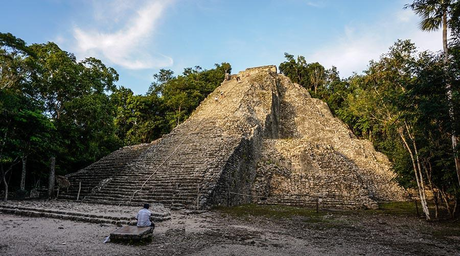 Mayan pyramid in the jungle