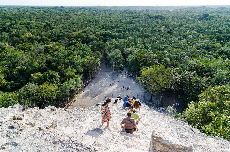the view from a Mayan temple