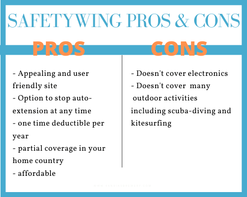 safetywing pros and cons