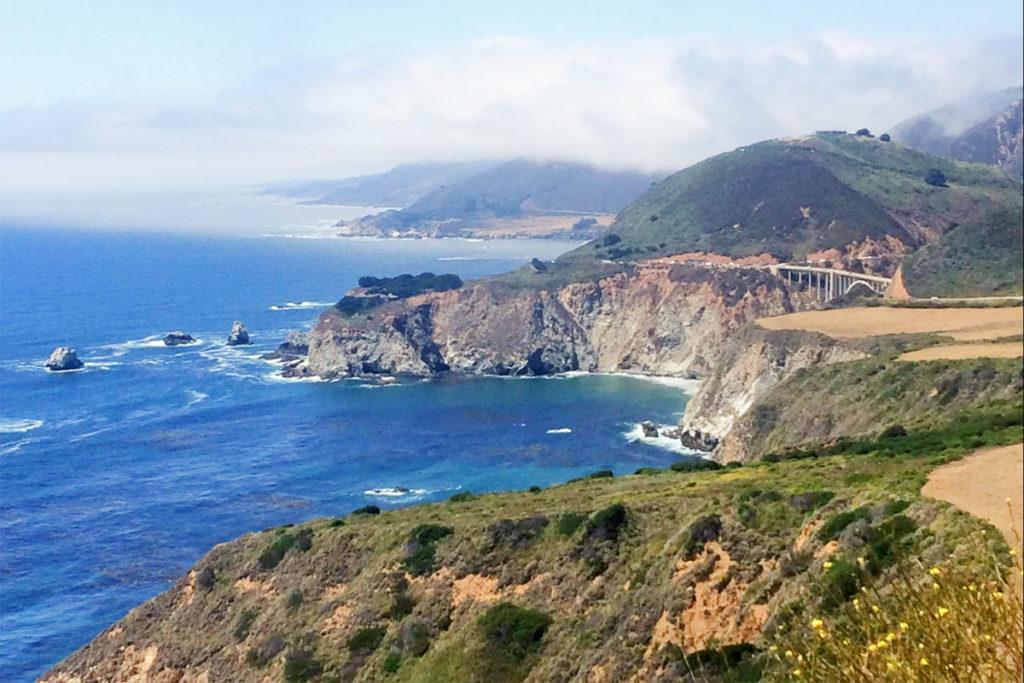 Big sure coast line views