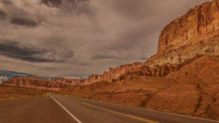 road in the rocky desert