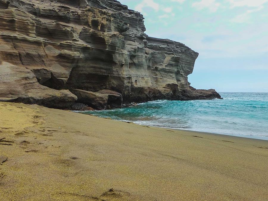 green sand beach - empty