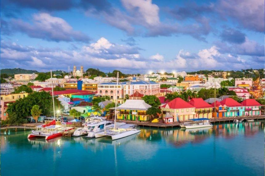 Antigua harbor in St John's
