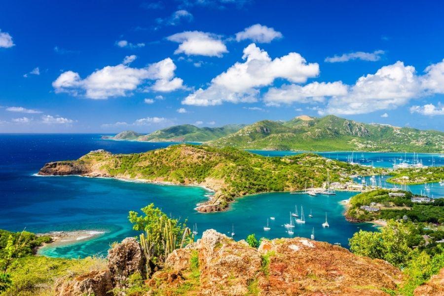Antigua English Harbor overview