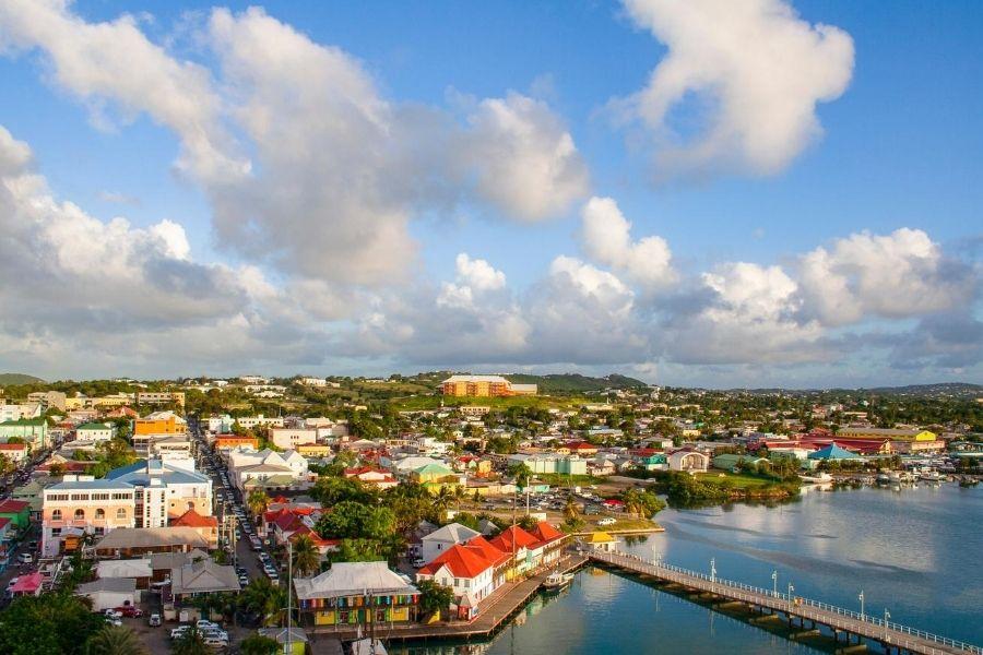 Overview of Antigua City of St John's