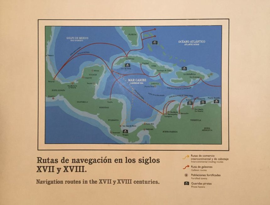historical map of the Caribbean