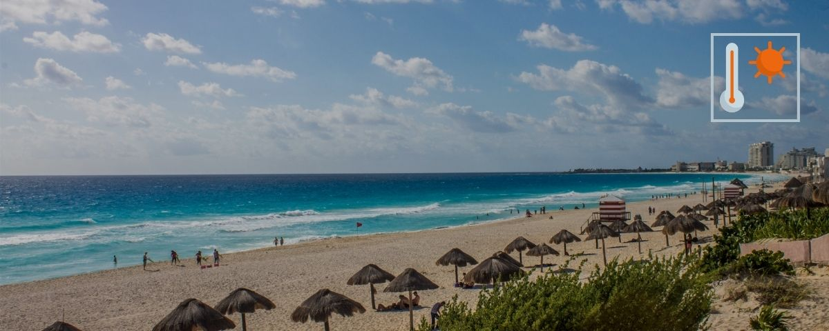 cancun weather in January