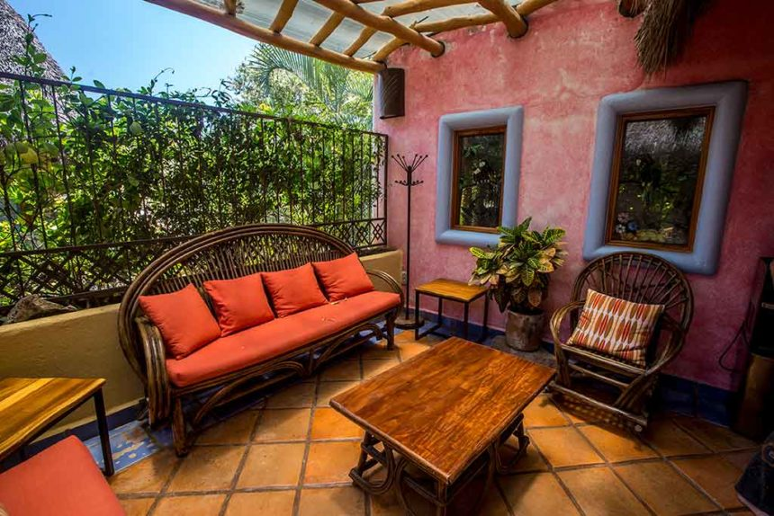 hotel terrace - where to stay in Sayulita