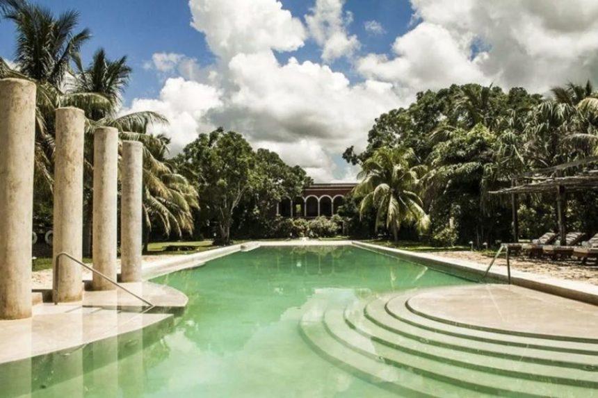 luxury hacienda pool - temozon Yucatan peninsula
