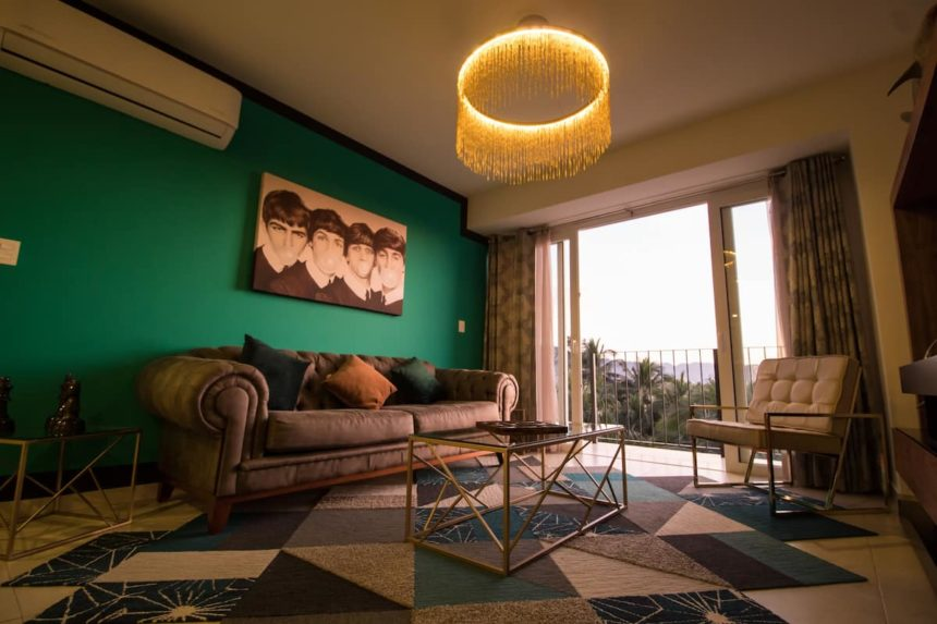 stunning views from stylish livingroom