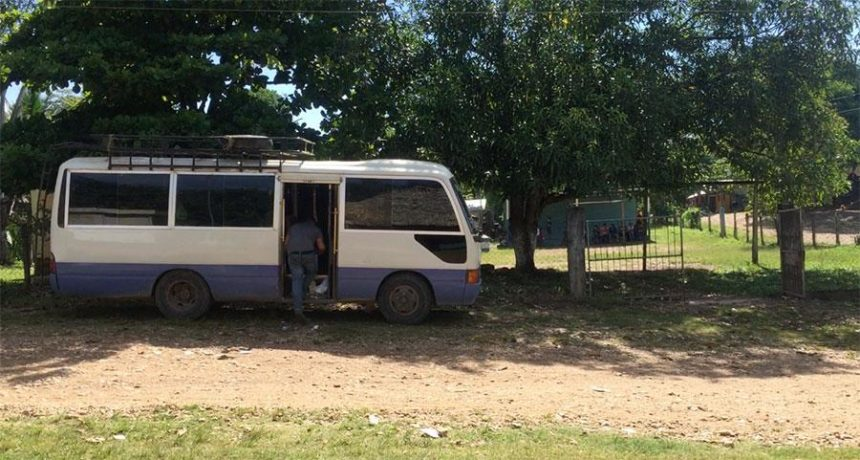 MY BUS TO FLORES - CROSSING BOARDER MEXICO TO GUATEMALA