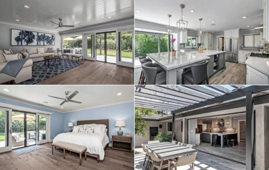 beautiful homes a bed, living room, kitchen - Santa barbara luxury homes for rent