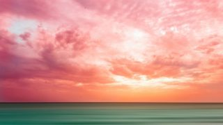 PINK SKY AND GREEN SEA