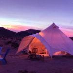 joshua aquarium tent blue sunset sky