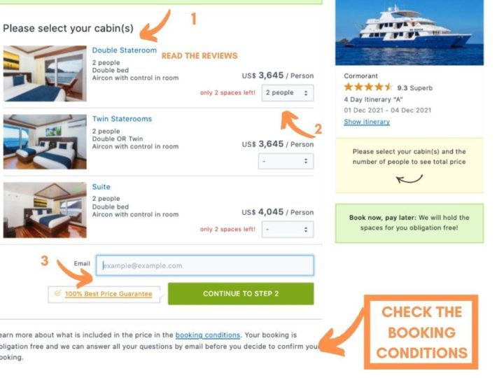 LIVEABOARD.COM BOOKING PAGE