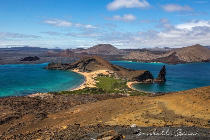 peninsula in  blue ocean - arial view