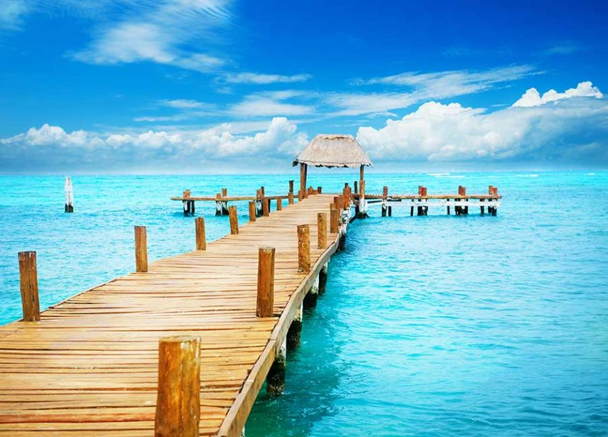 board walk on the turquoise water