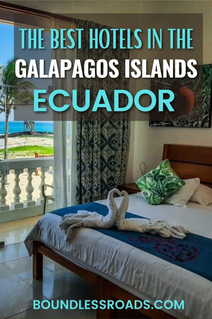 hotel room in isabela island galapagos with sea view