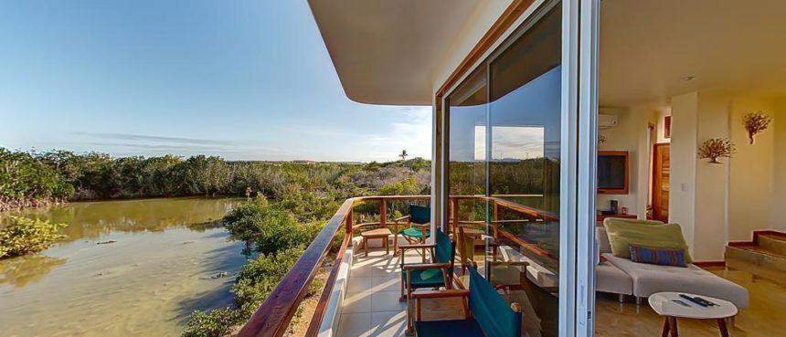 blue heron luxury house balcony