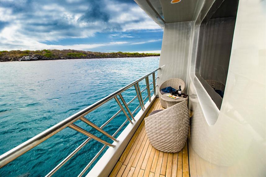 cabin balcony of a cruise ship