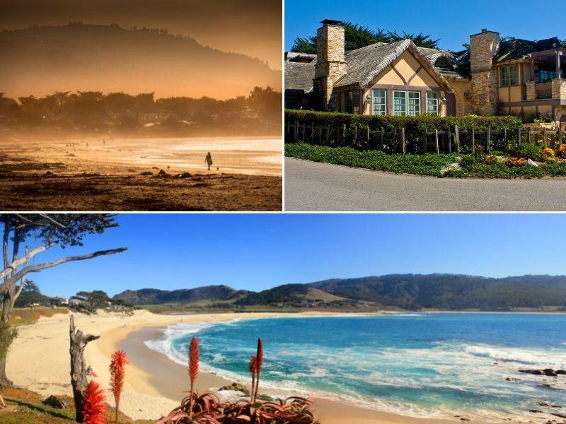 carmel beach and homes