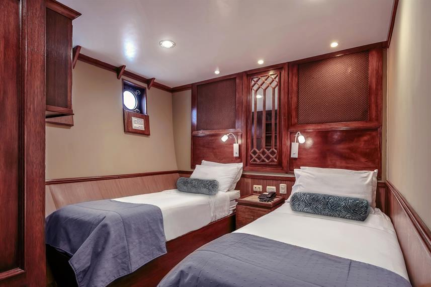 luxury stateroom on Grace Cruise ship Galapagos