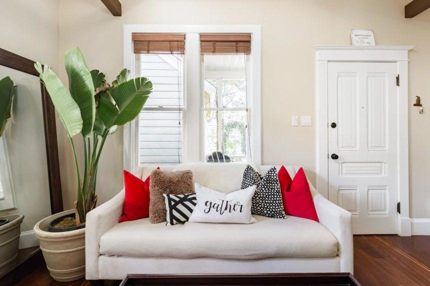 Airbnb orange county sofa