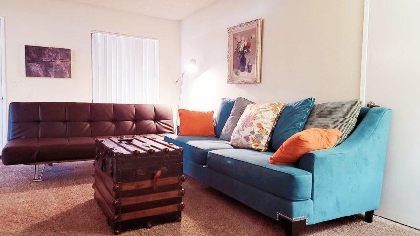 Airbnb near Disneyland livingroom