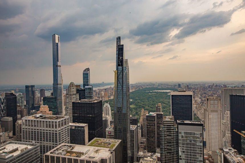 Manhattan skyline -central park