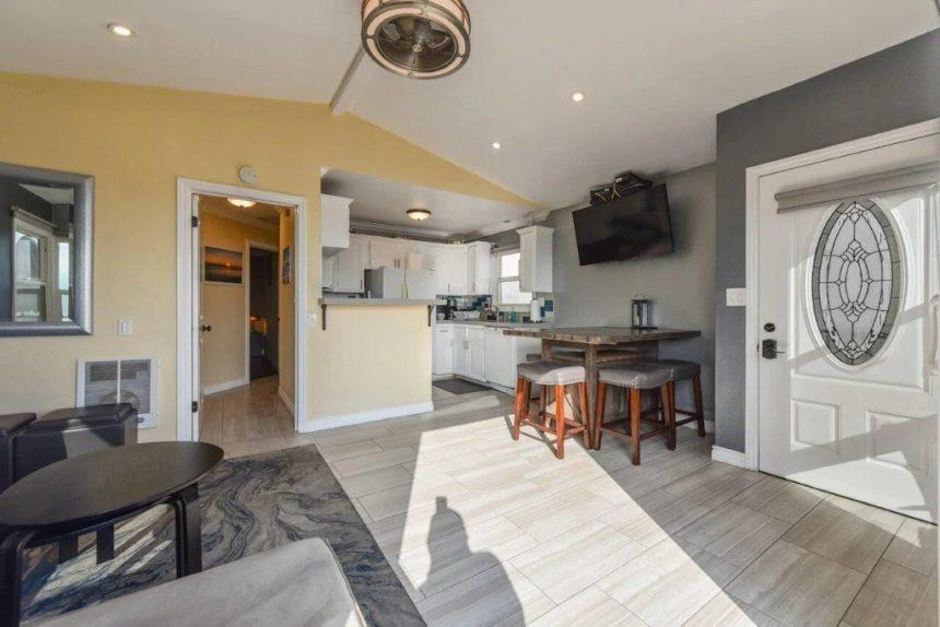 new port beach apartment kitchen