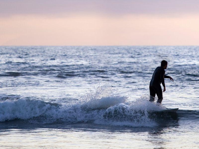 surfer in the water